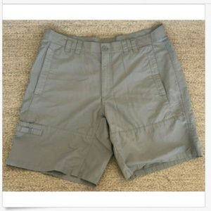 "Columbia PFG Cypress Green Fishing Shorts 38 X 10"""